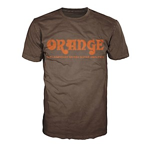 Orange Amplifiers Classic T-Shirt Brown XX Large