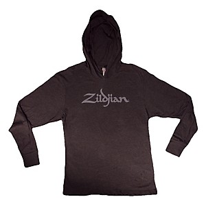 Zildjian Long Sleeve Hooded Shirt, Black Medium