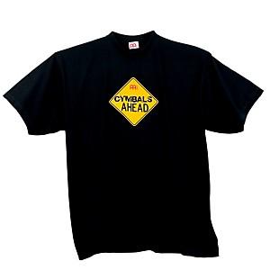 Meinl Cymbals Ahead T-Shirt, Black Black Medium