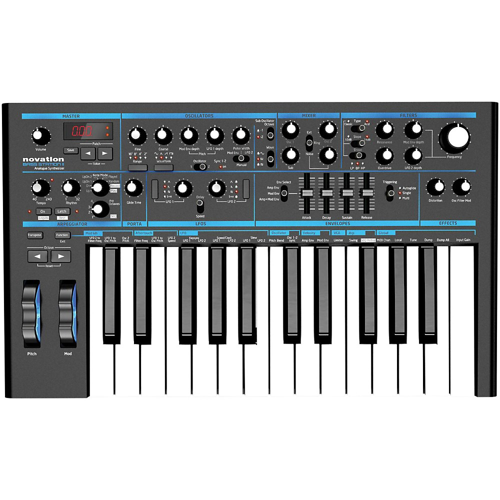 Novation Bass Station Ii Keyboard Synthesizer Ebay Mono To Stereo Stock Photo Picture 1 Of 7