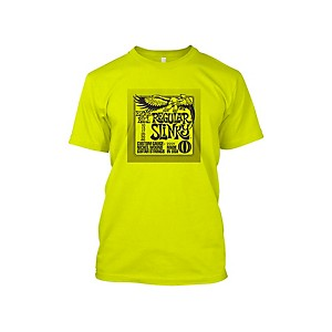 Ernie Ball Regular Slinky T-Shirt Neon Yellow Extra Large