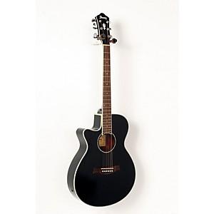 Ibanez AEG10LII Lefty Cutaway Acoustic-Electric Guitar Black 888365524559