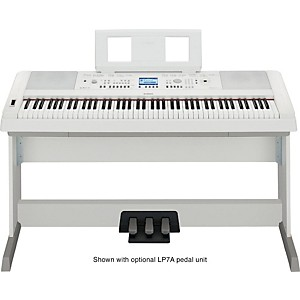 Yamaha DGX-650 88-Key Graded Hammer Action Digital Piano White