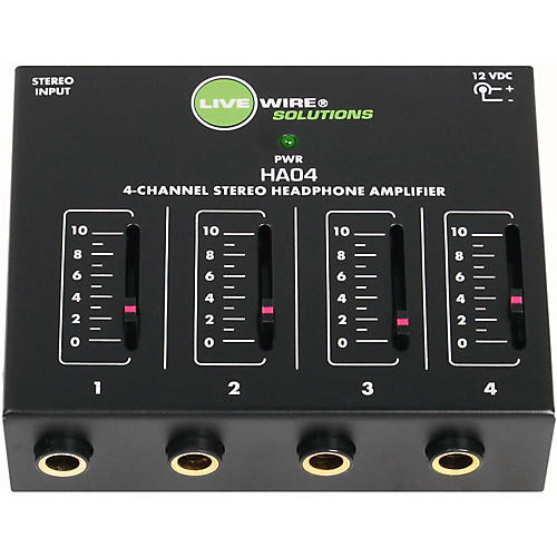 Livewire HA04 4-Channel Stereo Headphone Amplifier thumbnail