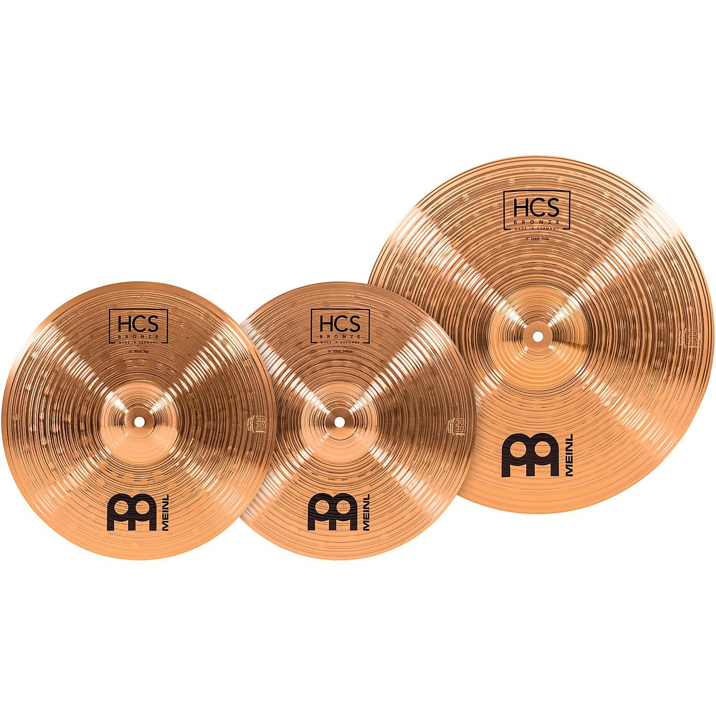 Meinl HCS Bronze Basic Cymbal Set thumbnail