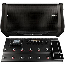 Line 6 HD500X Multi-Effects Processor with StageSource L2T Amp / Loudspeaker