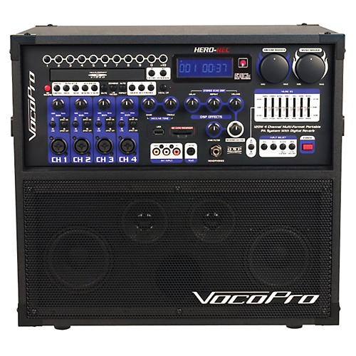 VocoPro HERO-REC Multi-Format Portable P.A. Karaoke System w/ Digital Recorder thumbnail