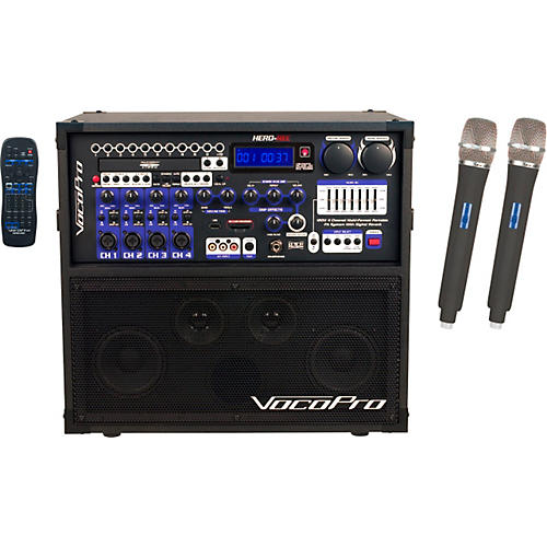 VocoPro HERO-REC UHF Multi-Format Portable PA Karaoke System with Digital Recorder & UHF Wireless System thumbnail