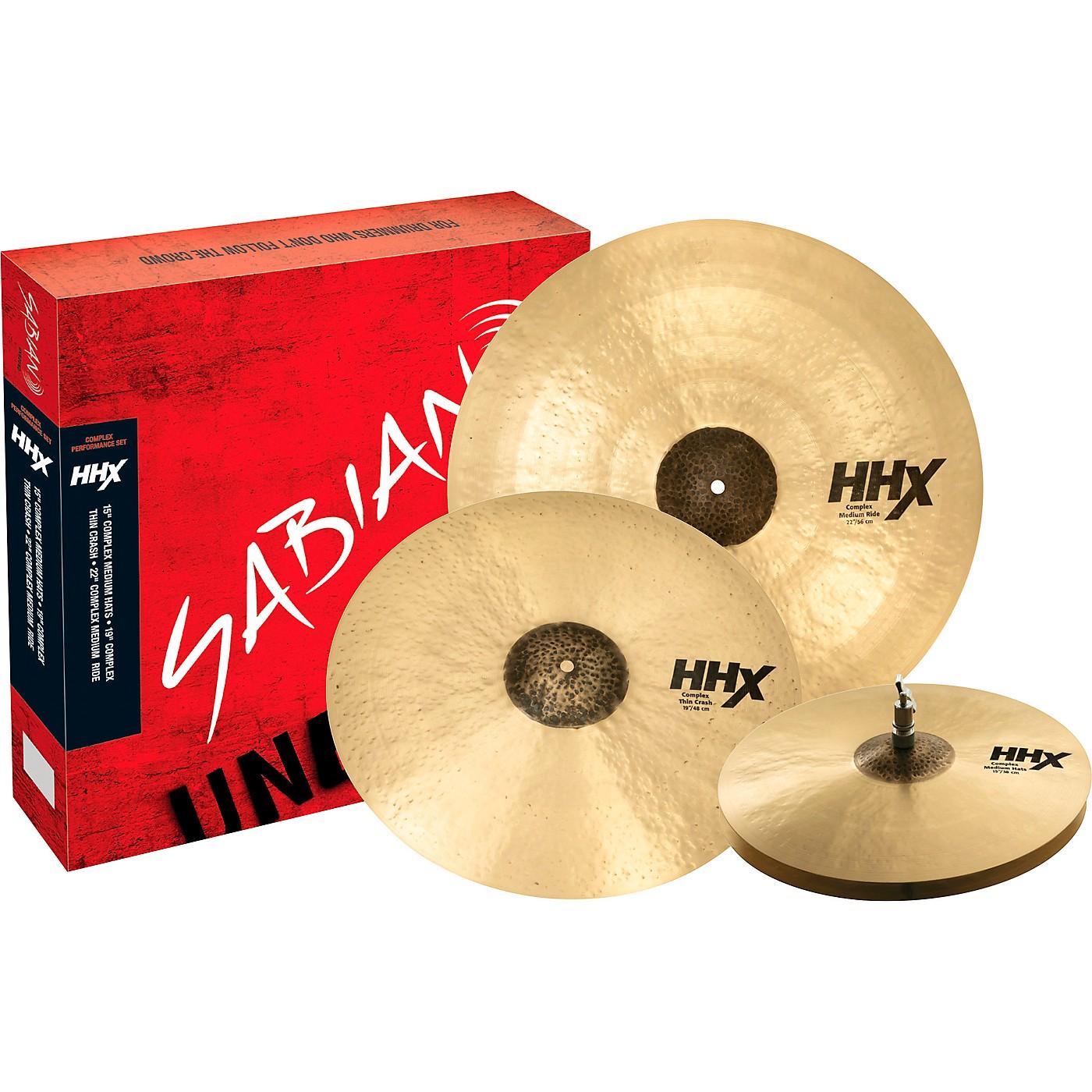 Sabian HHX Complex Performance Cymbal Set thumbnail