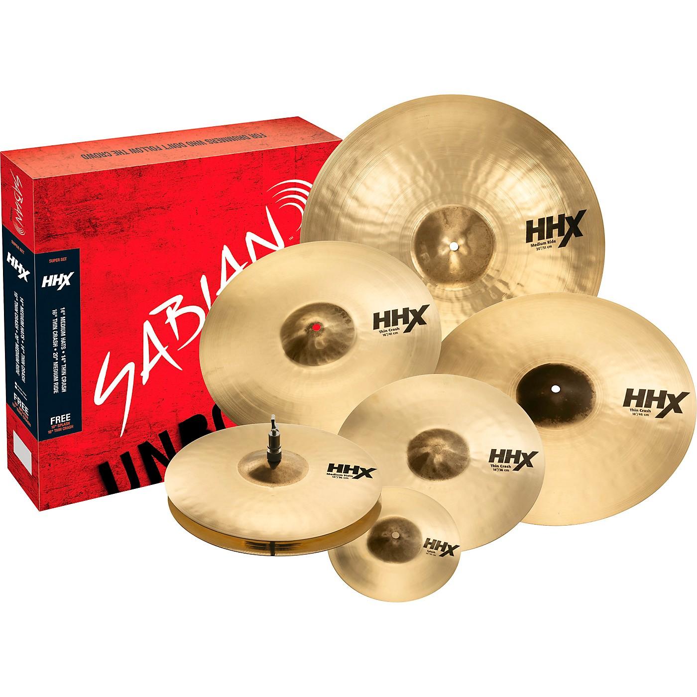 Sabian HHX Super Cymbal Set, Brilliant thumbnail
