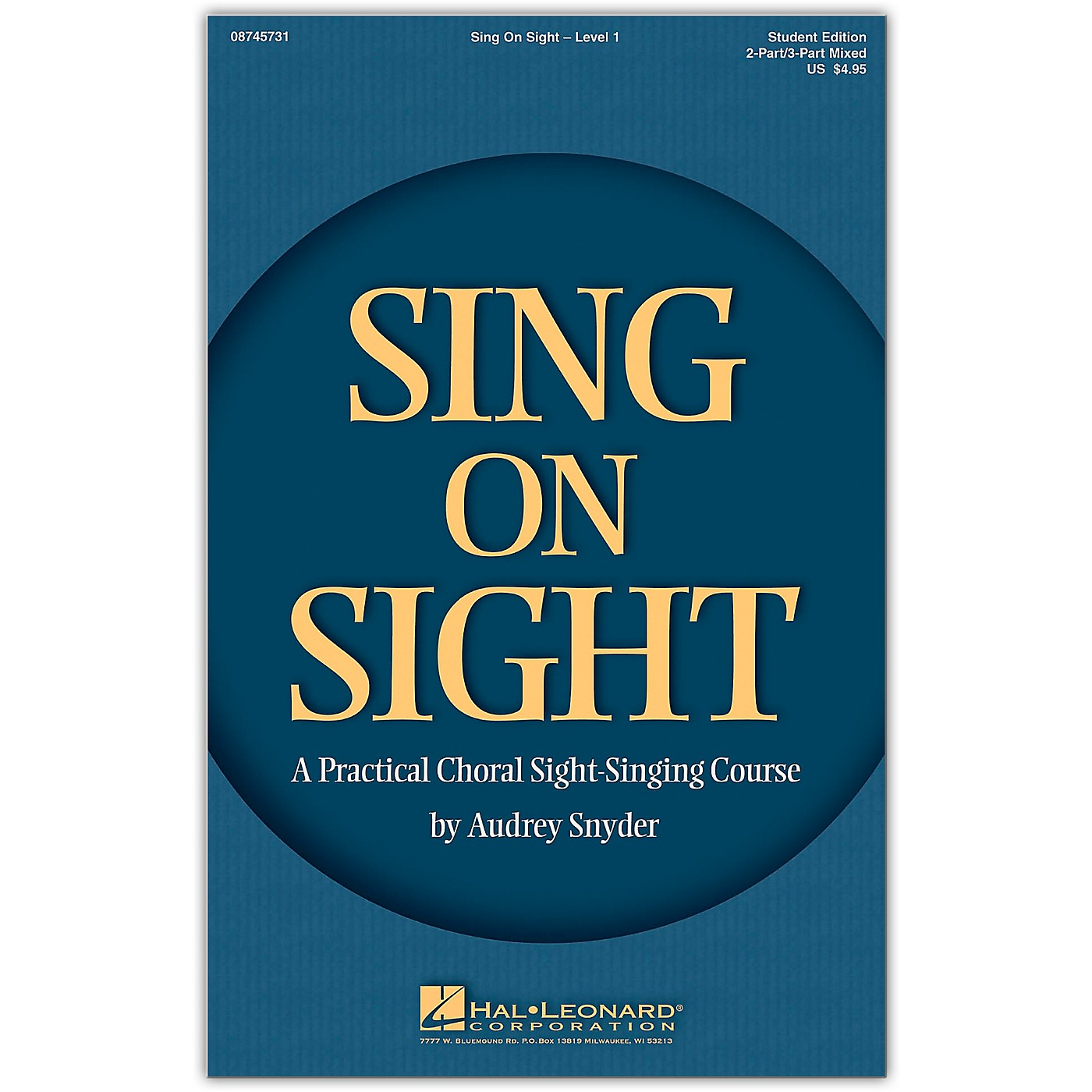 Hal Leonard HLP 08745731 SING ON SIGHT CHORAL SIGHT SINGING COURSE BOOK W/CD thumbnail