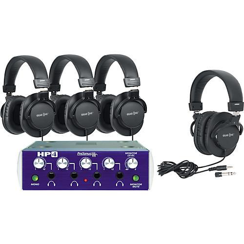 PreSonus HP4 Headphone Amp with 4 Headphones-thumbnail