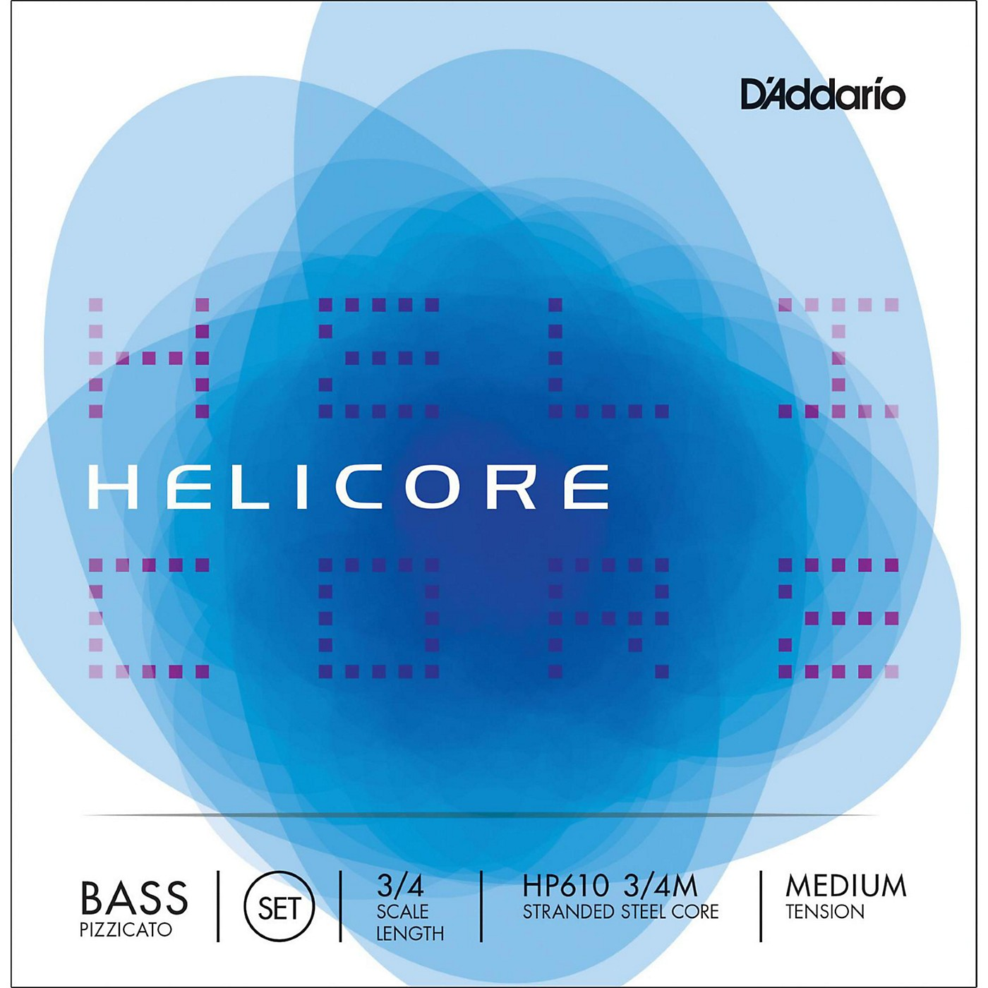 D'Addario HP610 Helicore Pizzicato 3/4 Size Double Bass String Set thumbnail
