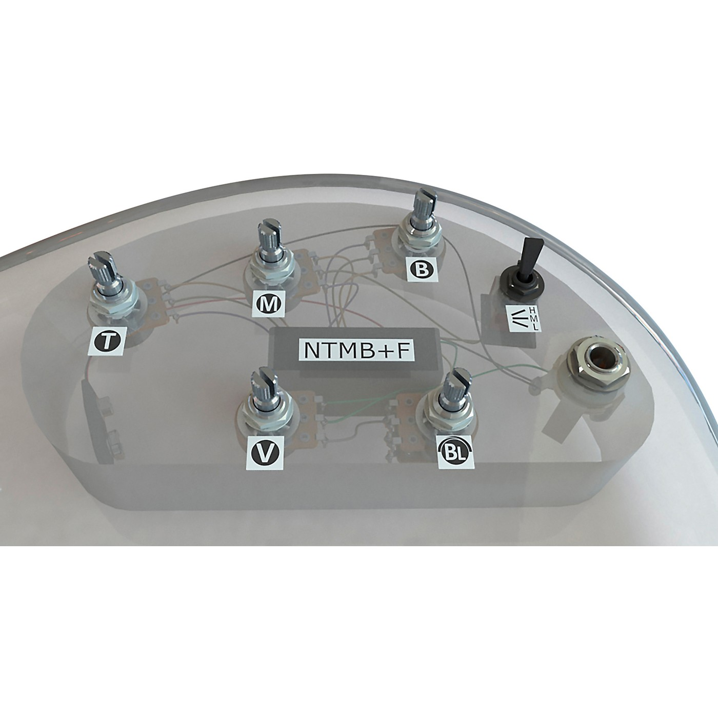 Bartolini HR-5.4/918 3-Band NTMB+F Preamp, 5 Pots, 1 Toggle thumbnail