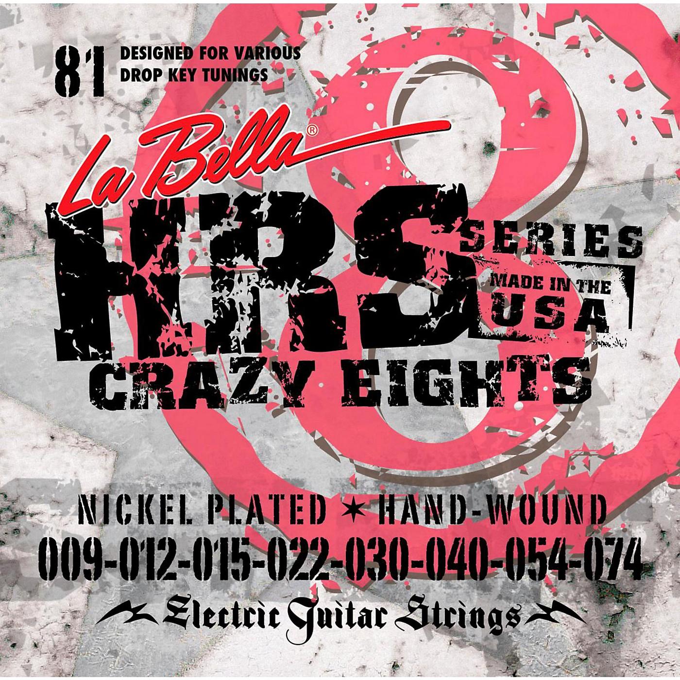 LaBella HRS-81 8-String Electric Guitar Strings thumbnail