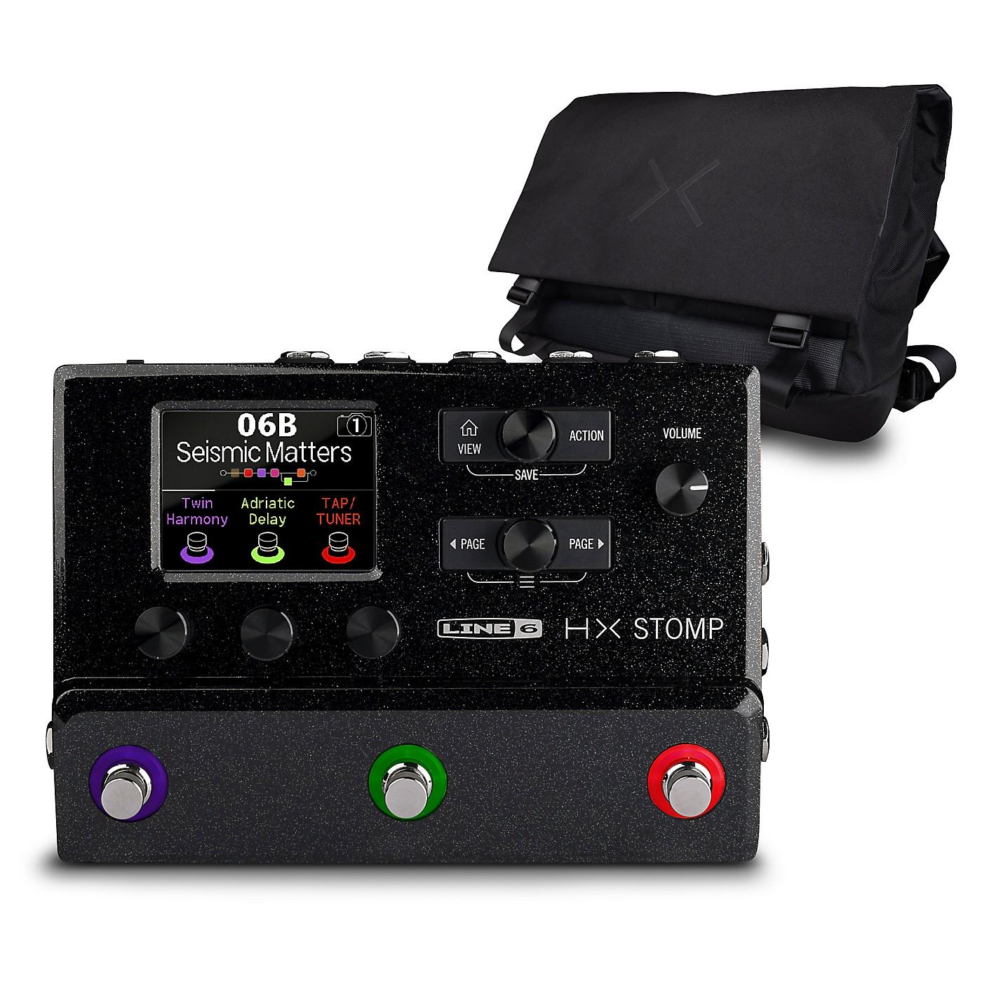 Line 6 HX Stomp Multi-Effects Pedal Black with HX Messenger Bag thumbnail