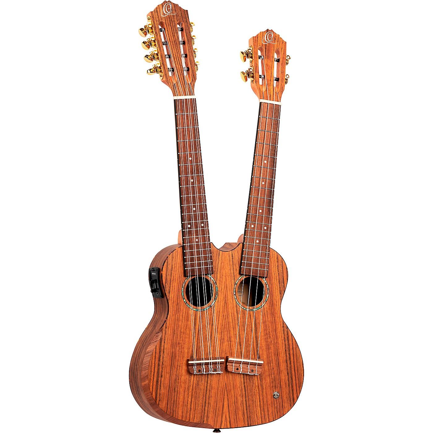 Ortega HYDRA Double Neck 4-String & 8-String Tenor Acoustic-Electric Ukulele thumbnail