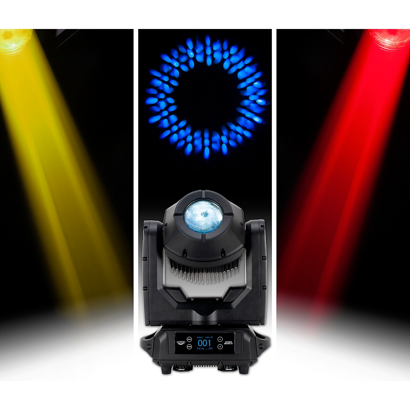 American DJ HYDRO BEAM X1 IP 65 Rated 100 Watt Discharge Moving Head With a 3 Degree Beam and 16 facet prism Wireless DMX Built In thumbnail