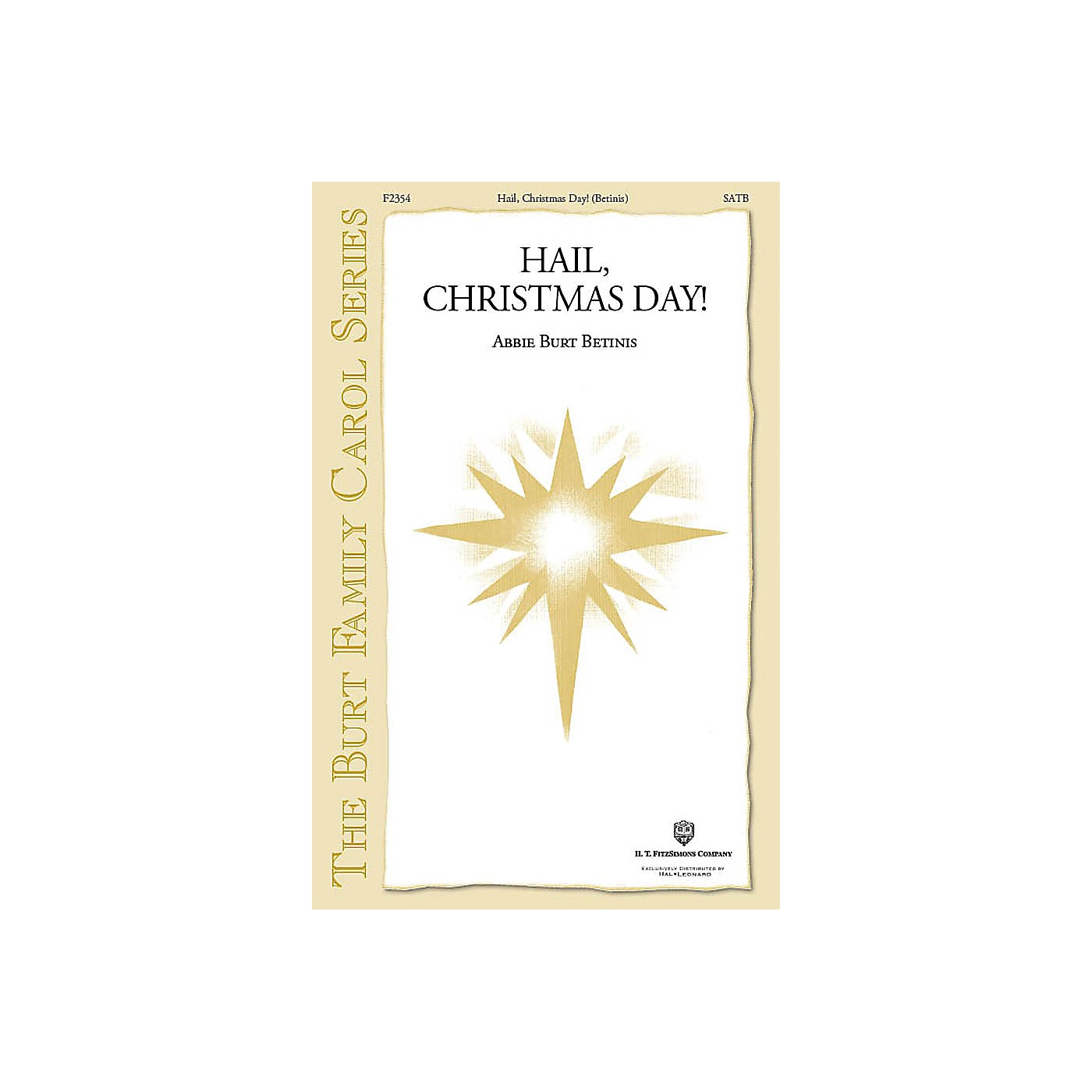Fred Bock Music Hail, Christmas Day! SATB a cappella composed by Abbie Betinis thumbnail