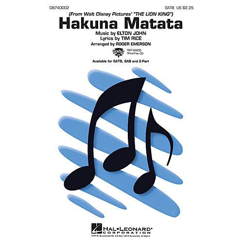 Hal Leonard Hakuna Matata (from The Lion King) ShowTrax CD Arranged by Roger Emerson thumbnail