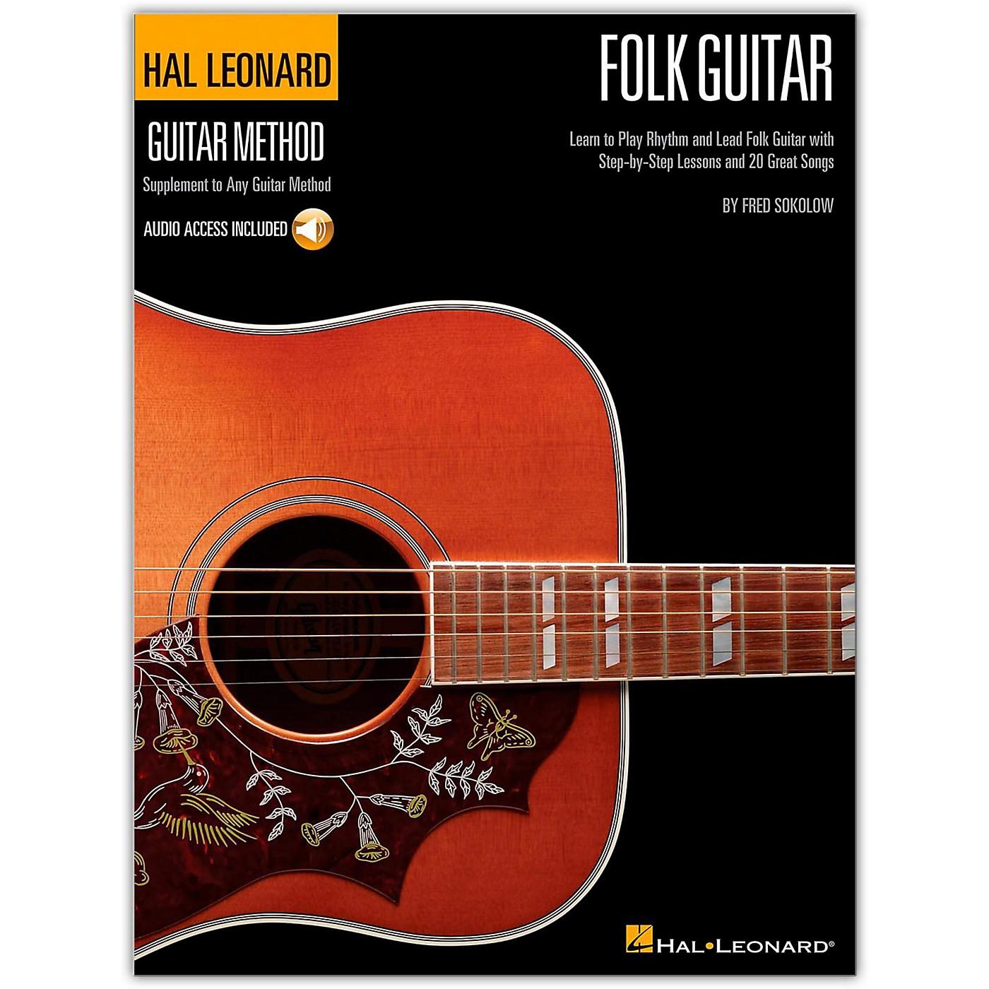 Hal Leonard Hal Leoanrd Folk Guitar Method - Learn to Play Rhythm and Lead Folk Guitar (Book/Online Audio) thumbnail