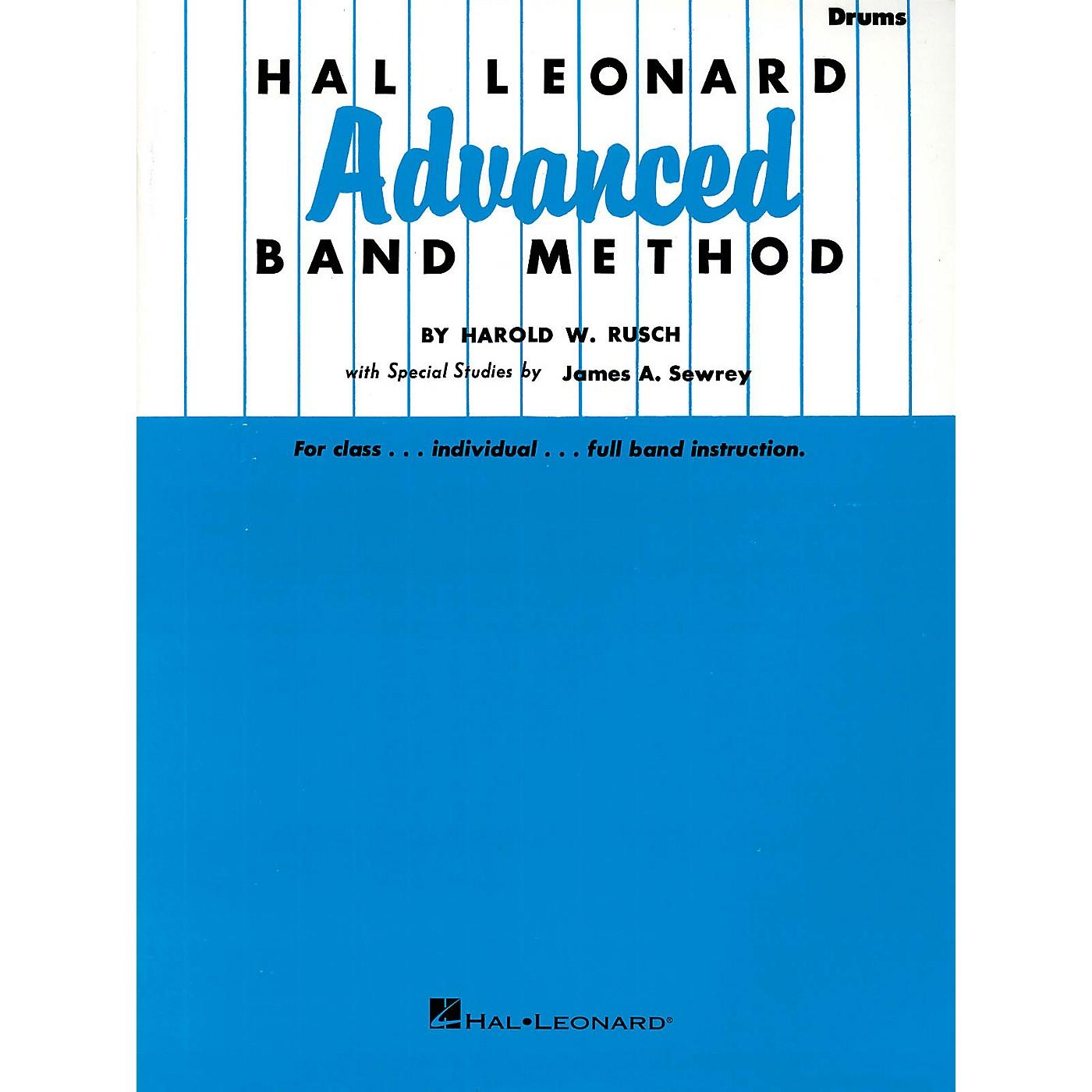 Hal Leonard Hal Leonard Advanced Band Method (Drums) Advanced Band Method Series Composed by Harold W. Rusch thumbnail