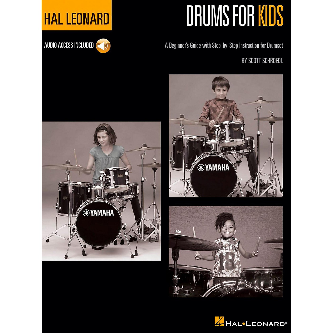 Hal Leonard Hal Leonard Drums for Kids - A Beginner's Guide with Step-by-Step Instruction for Drumset Book/Audio Online thumbnail