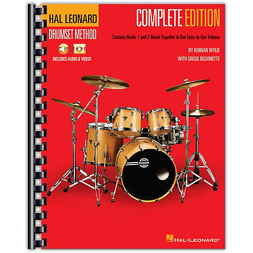 Hal Leonard Hal Leonard Drumset Method - Complete Edition Books 1 & 2 with Video and Audio thumbnail