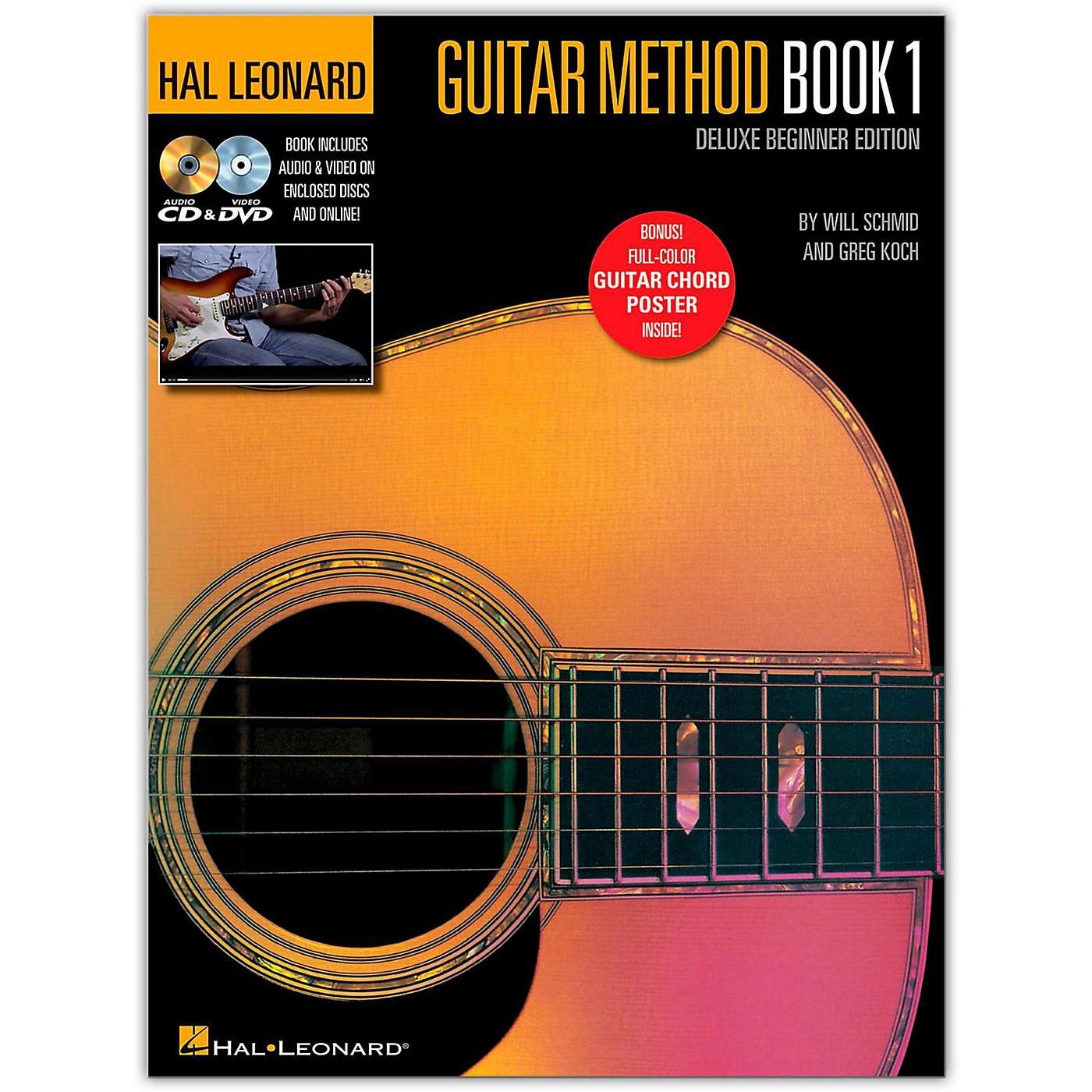 Hal Leonard Hal Leonard Guitar Method Book 1 Deluxe Beginner Edition (Book/DVD/Online Audio/Poster) thumbnail