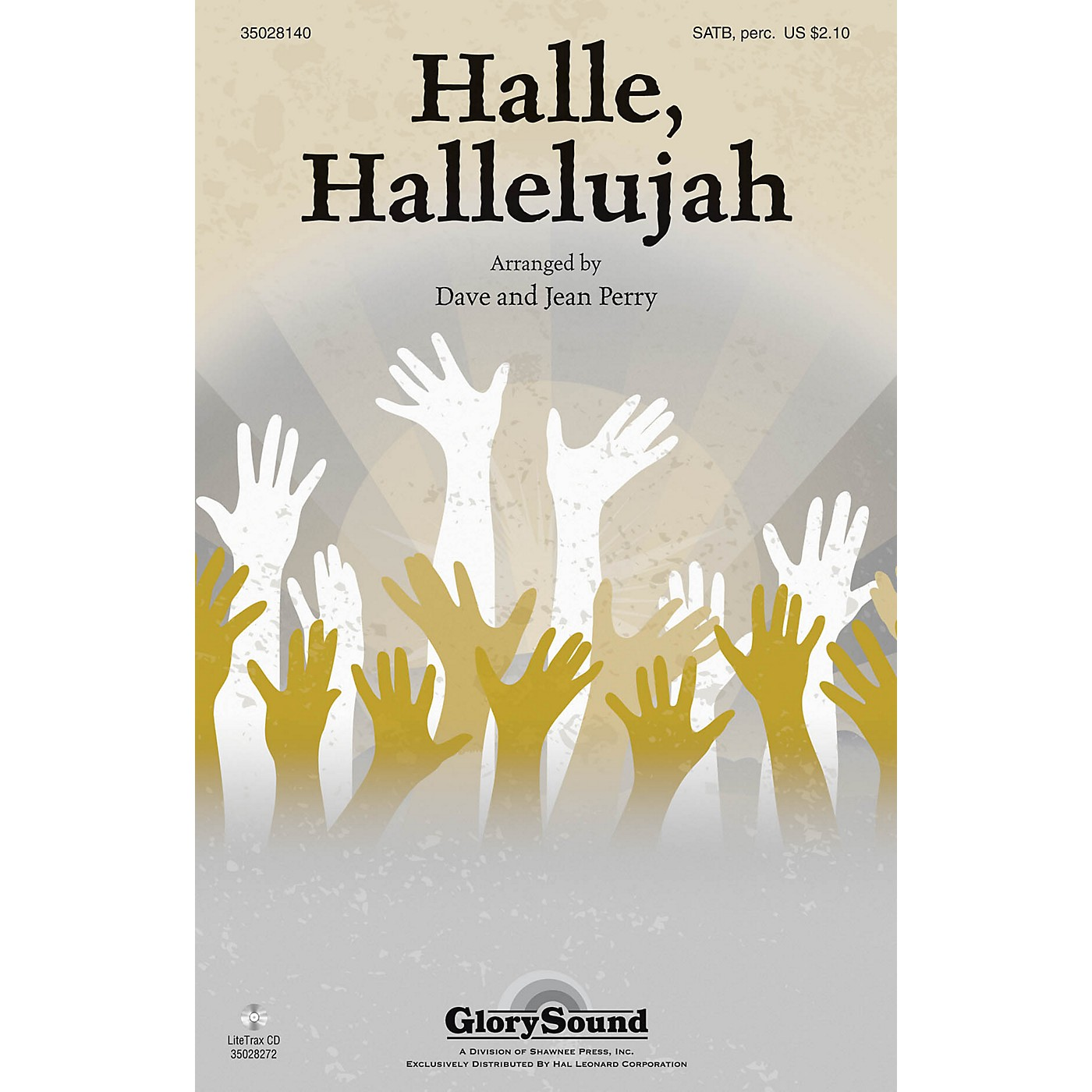 Shawnee Press Halle, Hallelujah! SATB, ACCOMP WITH OPT. PERCUSS arranged by Dave and Jean Perry thumbnail
