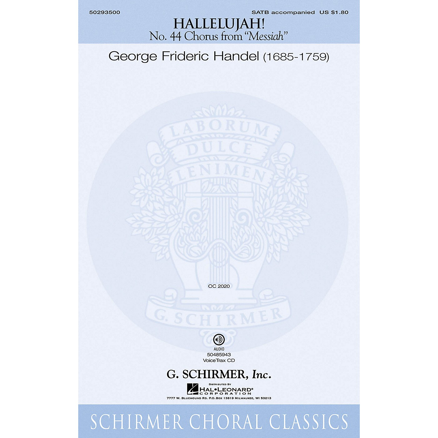 G. Schirmer Hallelujah Chorus (from The Messiah) VoiceTrax CD Composed by G.F. Händel thumbnail