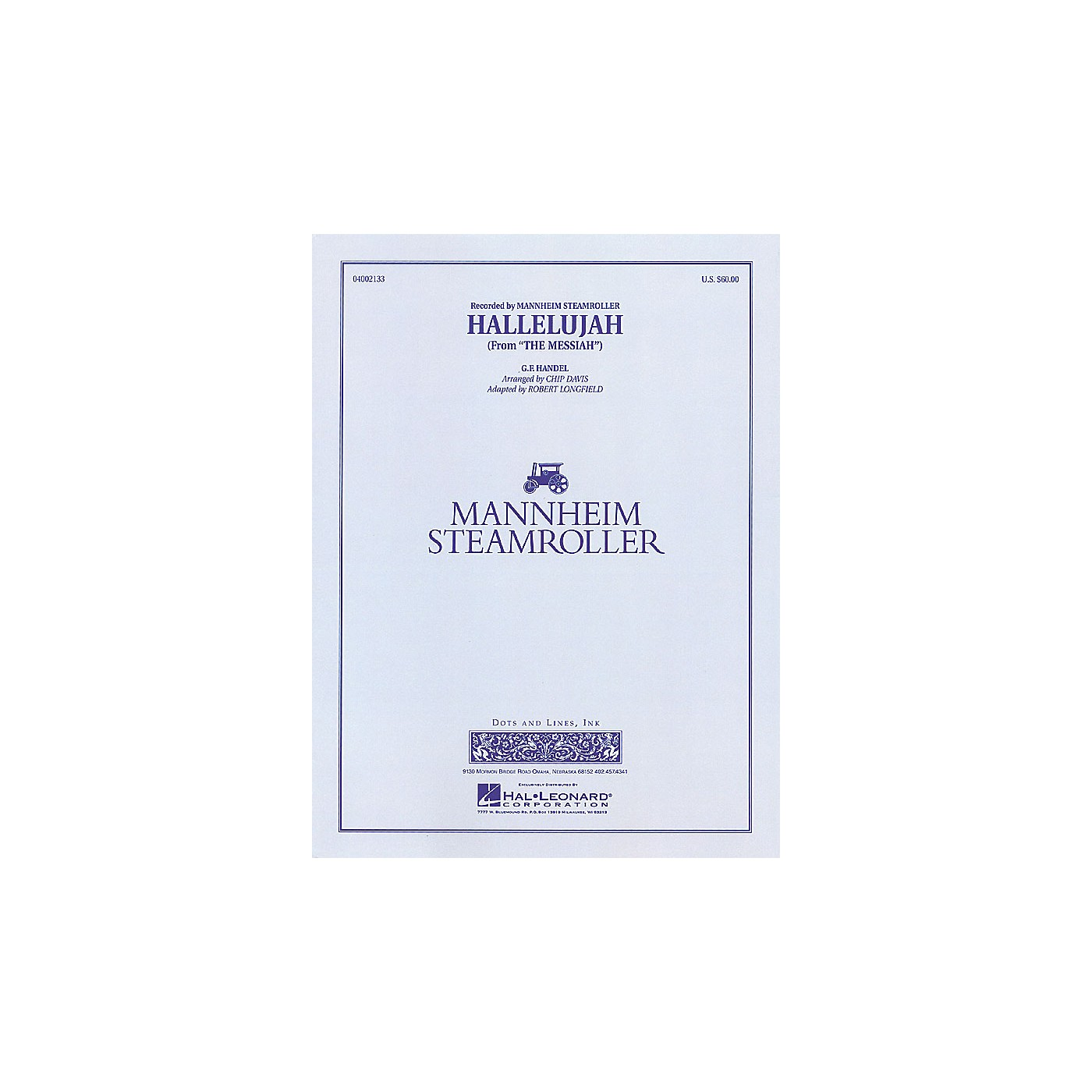 Hal Leonard Hallelujah Concert Band Level 3-4 by Mannheim Steamroller Arranged by Chip Davis thumbnail