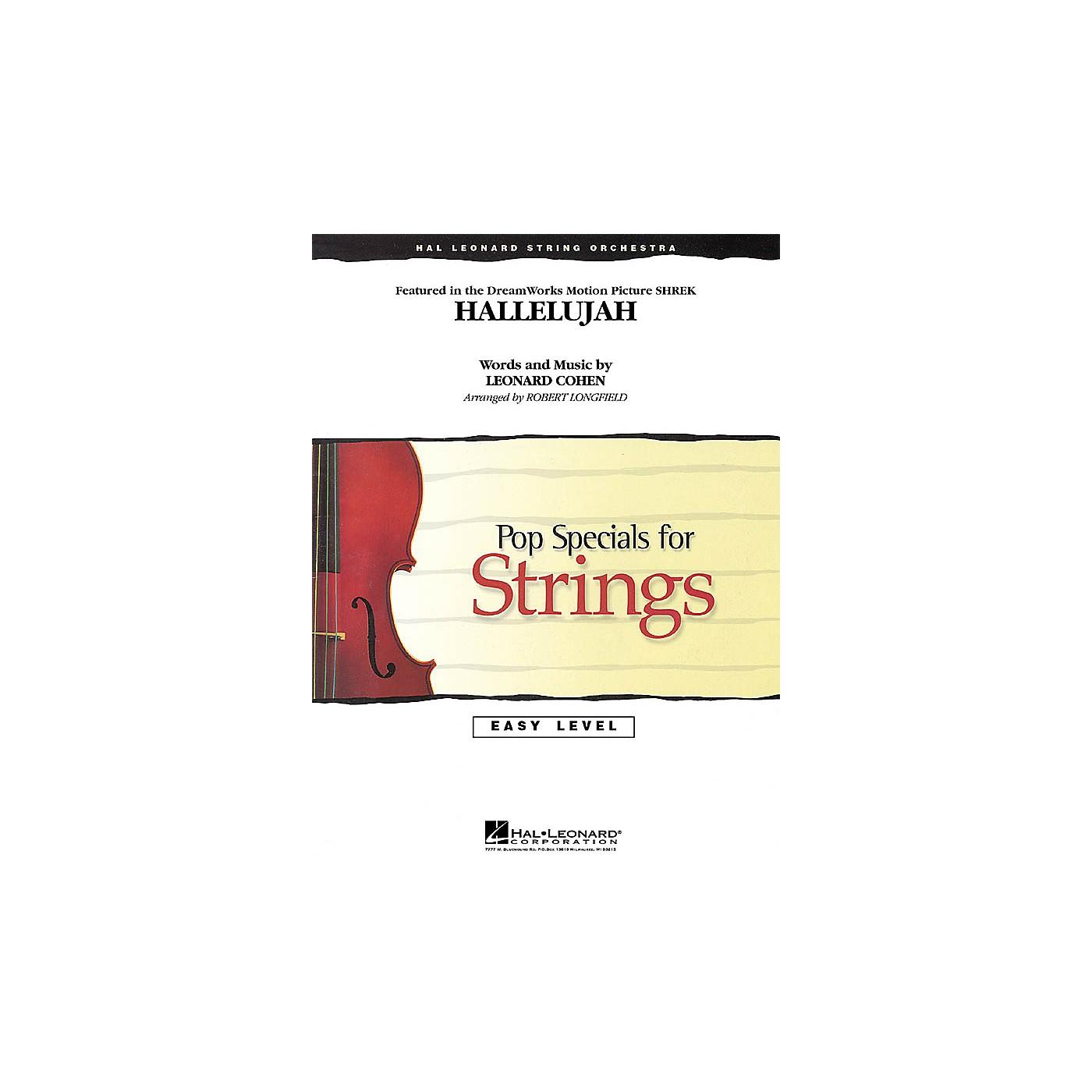 Hal Leonard Hallelujah Easy Pop Specials For Strings Series Arranged by Robert Longfield thumbnail