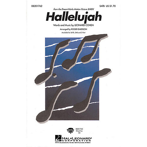 Hal Leonard Hallelujah SAB Arranged by Roger Emerson thumbnail