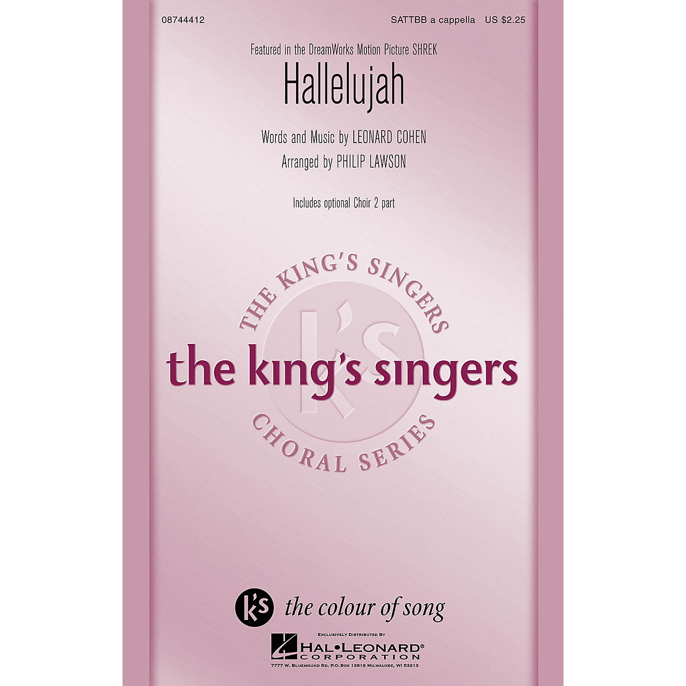 Hal Leonard Hallelujah SATTBB A Cappella by The King's Singers arranged by Philip Lawson thumbnail