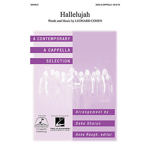 Contemporary A Cappella Publishing Hallelujah SSAA A CAPPELLA arranged by Deke Sharon thumbnail