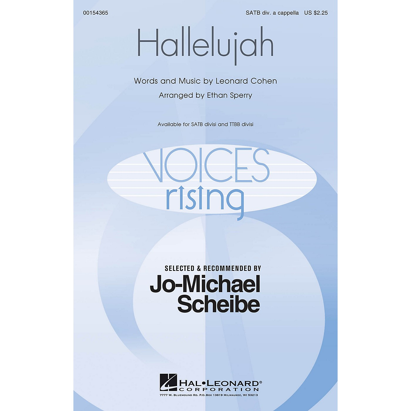 Hal Leonard Hallelujah (Selected and Recommended by Jo-Michael Scheibe) SATB DV A Cappella arranged by Ethan Sperry thumbnail