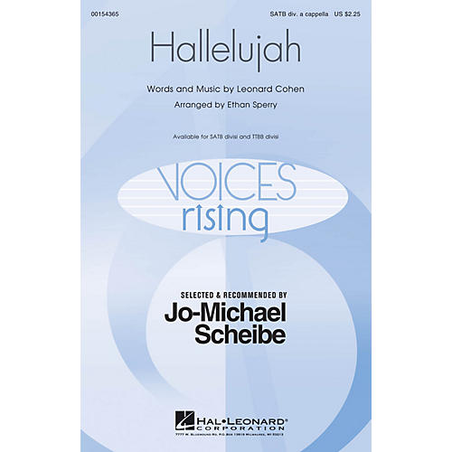 Hal Leonard Hallelujah (Selected and Recommended by Jo-Michael Scheibe) TTBB Div A Cappella Arranged by Ethan Sperry thumbnail