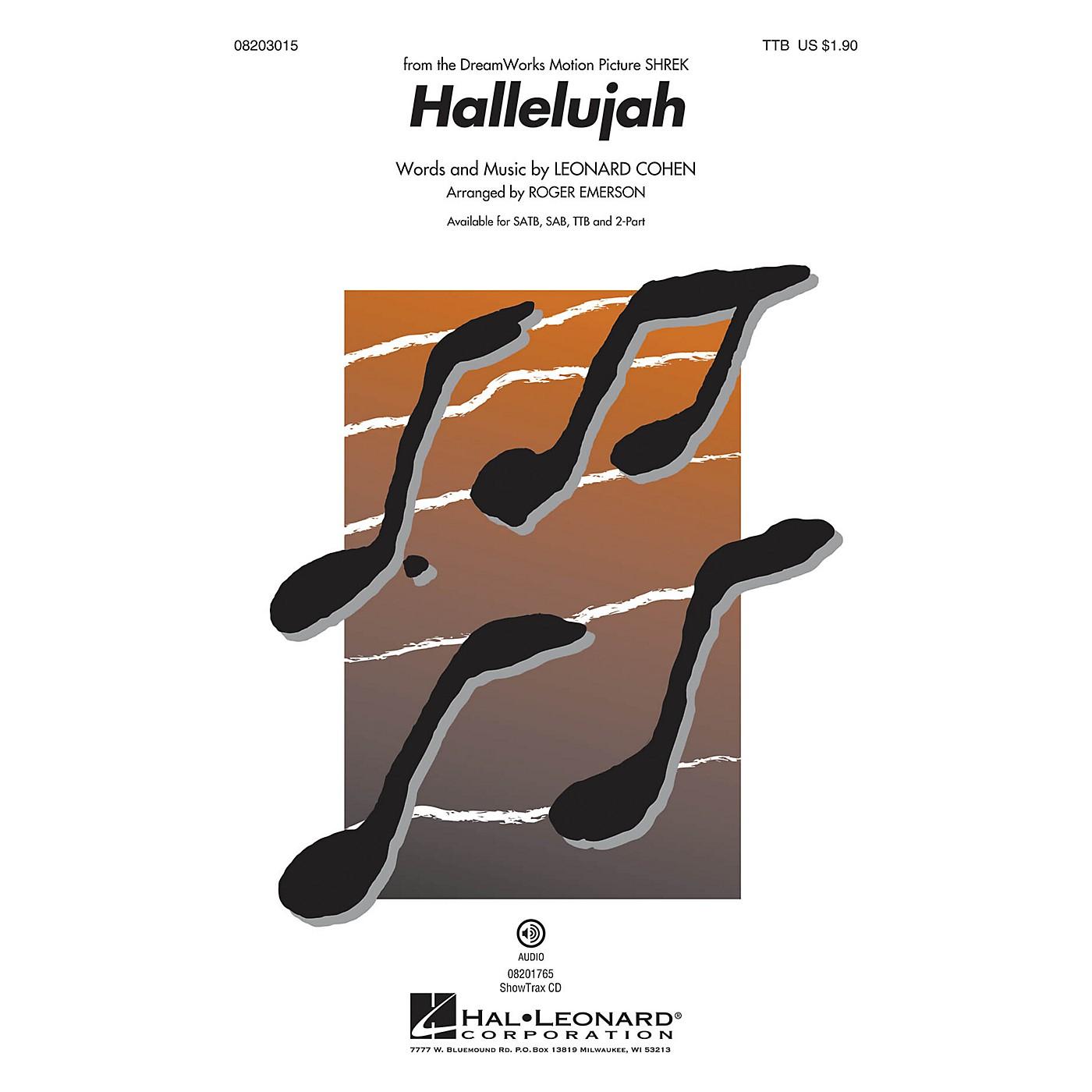 Hal Leonard Hallelujah TTB arranged by Roger Emerson thumbnail