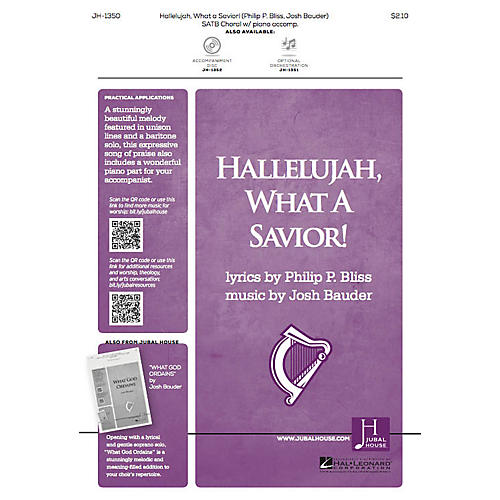 Jubal House Publications Hallelujah, What a Savior! ORCHESTRA ACCOMPANIMENT Composed by Josh Bauder thumbnail