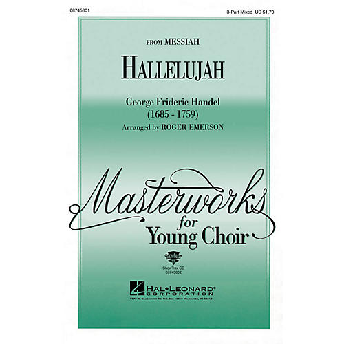 Hal Leonard Hallelujah (from Messiah) 3-Part Mixed arranged by Roger Emerson thumbnail