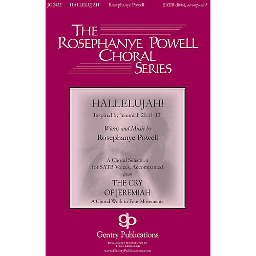 Gentry Publications Hallelujah (from The Cry of Jeremiah) SATB composed by Rosephanye Powell thumbnail