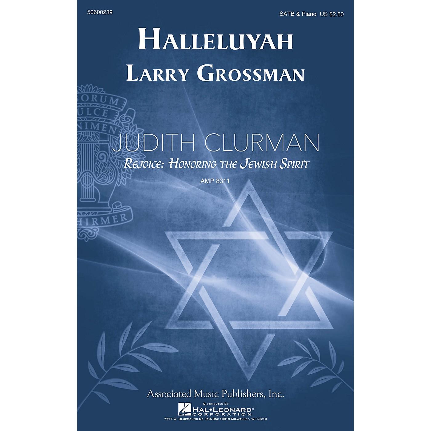 G. Schirmer Halleluyah (Psalm 150) (Judith Clurman Rejoice: Honoring the Jewish Spirit Series) SATB by Larry Grossman thumbnail