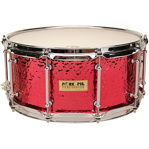 Pork Pie Hammered Brass Snare with Tube Lugs thumbnail