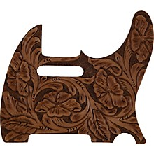 El Dorado Hand-Tooled Leather Tele Pickguard