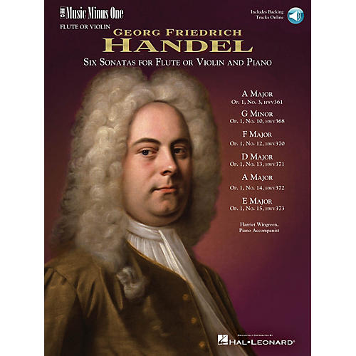 Music Minus One Handel - Six Sonatas for Flute and Piano Music Minus One Series Softcover with CD by Georg F. Handel thumbnail