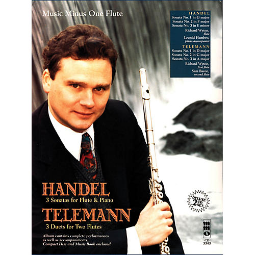 Music Minus One Handel - Sonatas for Flute & Piano; Telemann - 3 Duets for Two Flutes Music Minus One BL/CD by Handel thumbnail