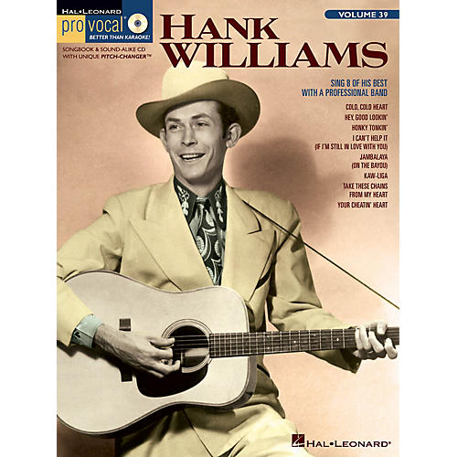 Hal Leonard Hank Williams (Pro Vocal Men's Edition Volume 39) Pro Vocal Series Softcover with CD thumbnail