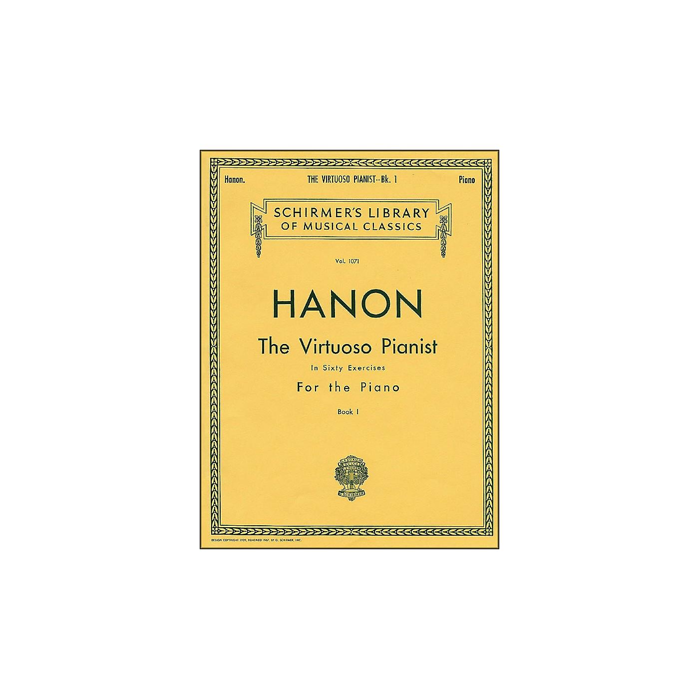G. Schirmer Hanon Virtuoso Pianist Book 1 60 Exercises Nos 1-20 By Hanon thumbnail