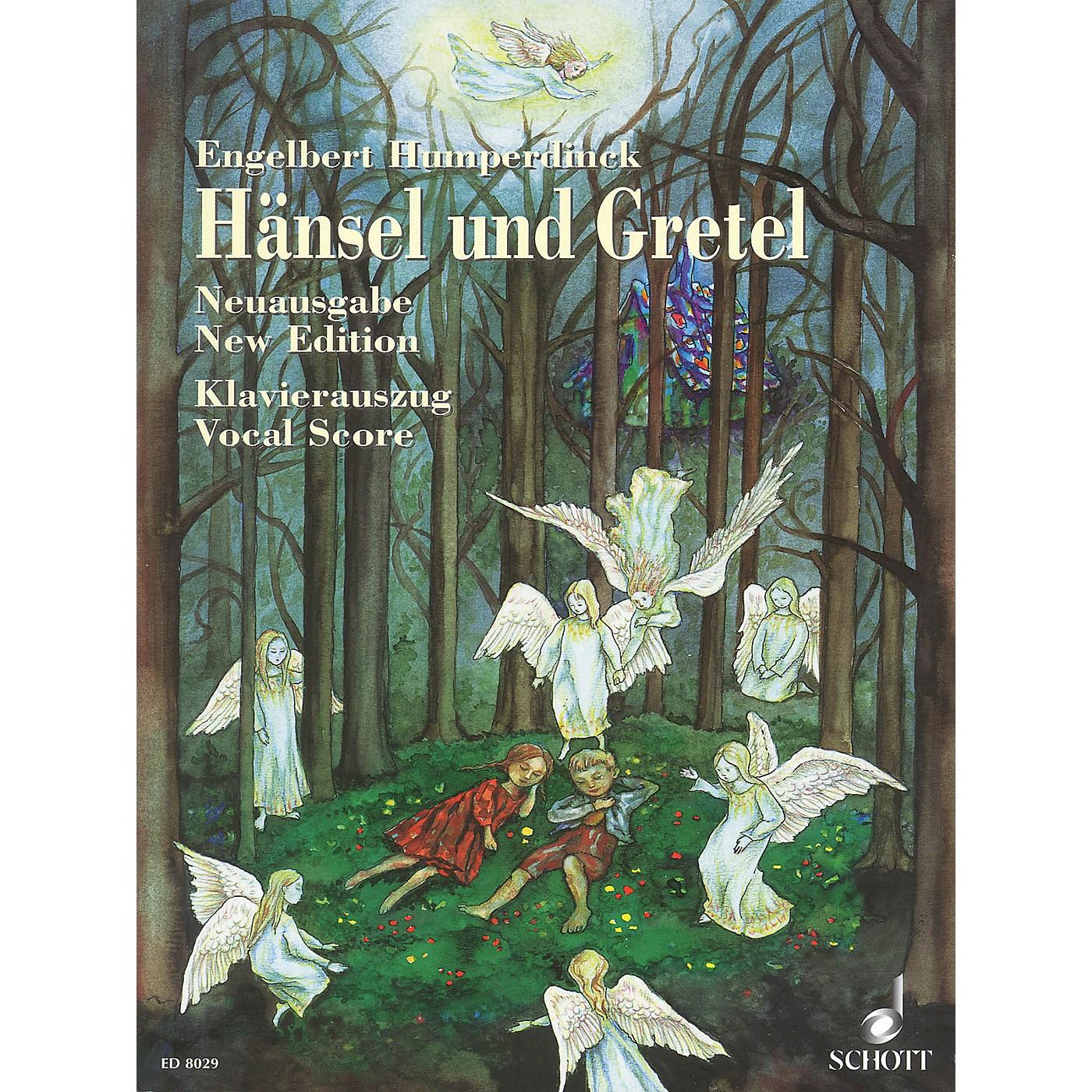 Schott Hansel und Gretel (Fairy-tale Opera in Three Acts) Vocal Score Composed by Engelbert Humperdinck thumbnail